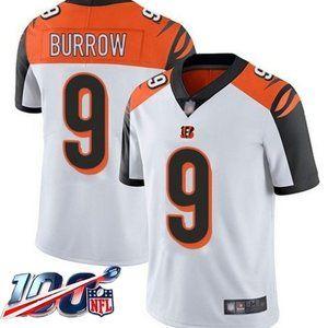 Cincinnati Bengals Joe Burrow White Jersey